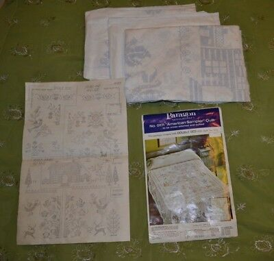 Paragon #01171, American Sampler, double bed size quilt top only, for embroidery