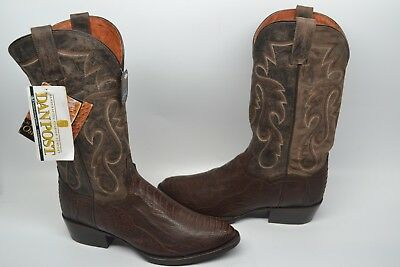 0dd6e4227f1 DAN POST MENS Bellevue Antique Ostrich Leg Western Cowboy Boot ...