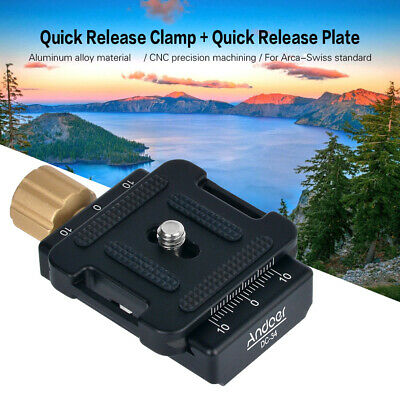 Andoer DC-34 Quick Release Plate Clamp Adapter with One Quick Release Plate P8I5