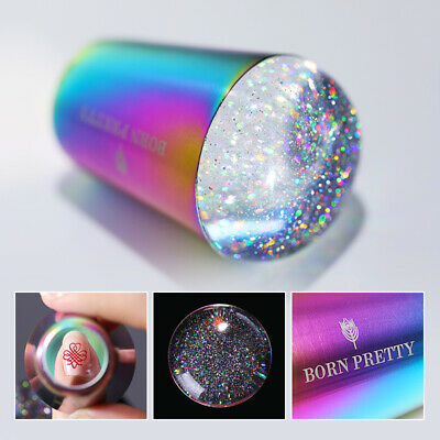 BORN PRETTY Holo Handle Transparent Stamper for UV Gel Stamping Polish