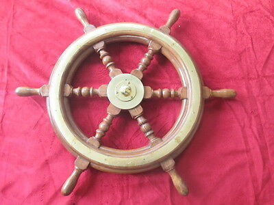 Marine Steering Ship/Boat/Ferry/Tug  Steering Wooden Home Decorative Wheel