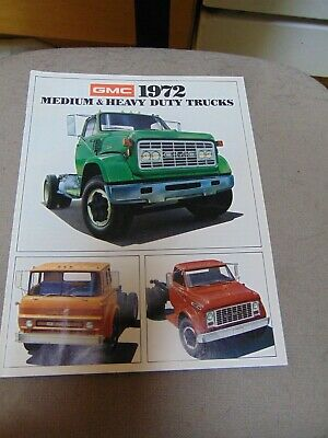 1972 GMC  MEDIUM AND HEAVY DUTY TRUCKS Brochures 12 PAGES