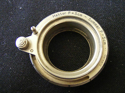 Vintage Hektor Summar f/5cm Focus Mount Leica Screw Thread Camera Body