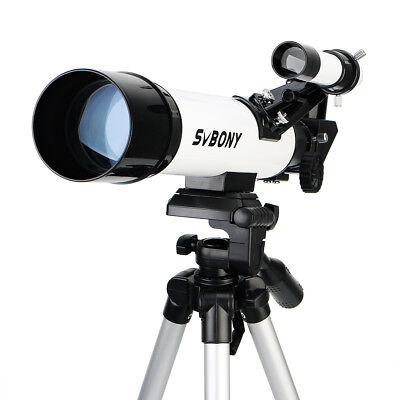SVBONY Compact Kids Refractor Telescope Travel Scope60x420mm+Aluminum Tripod NEW