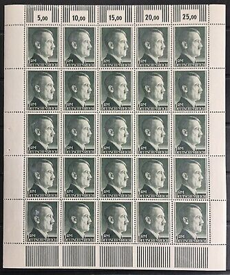 Germany Third Reich 1944 Hitler 1RM Sheet MNH