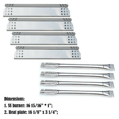 Replacement Kitchen Aid 720-0733A,4 Burner Gas Grill Burner,SS Heat Plate- 4pack