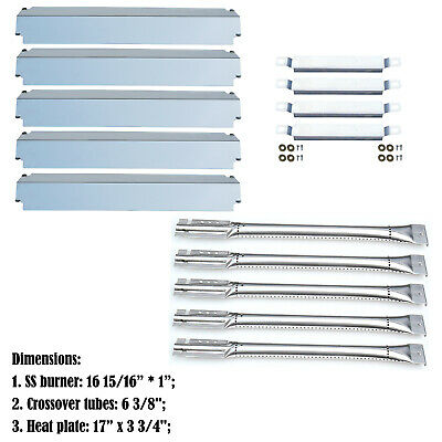 Replacement Charbroil Commercial 463268806 Gas Burner,Heat plate,Carryover Tubes