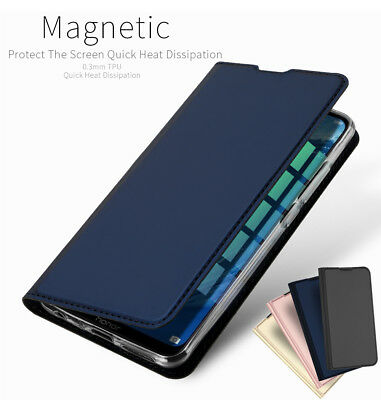 UK For Huawei Honor 8X PU Leather Flip Case Wallet Smart Magnetic Skin Cover