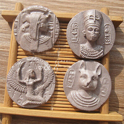 Pharaoh Ancient Copper Coins Silicone Fondant Sugar Cookie Mould Cake Decor B