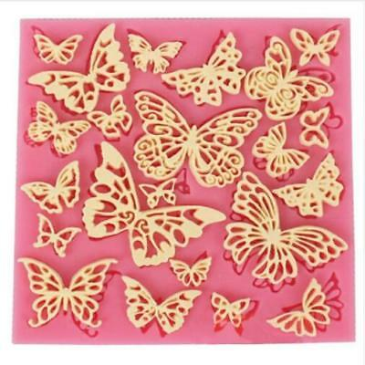 Flower Butterfly Silicone Lace Mat Cupcake Fondant Mold Gumpaste Chocolate Mold