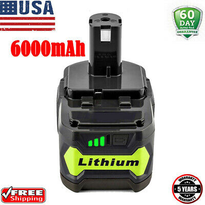 6.0Ah 18 VOLT P108 for 18V RYOBI ONE PLUS Lithium-Ion High Capacity Battery PACK