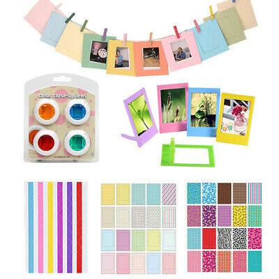 Colorful Filter Film Stickers Instant Camera Accessories Paper Frame Part New