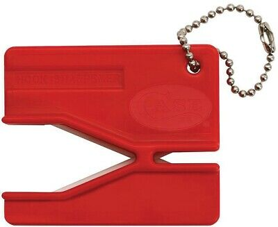 Case XX Red Easy Pull Keychain Knife Hook Sharpener Ceramic Rods 52451