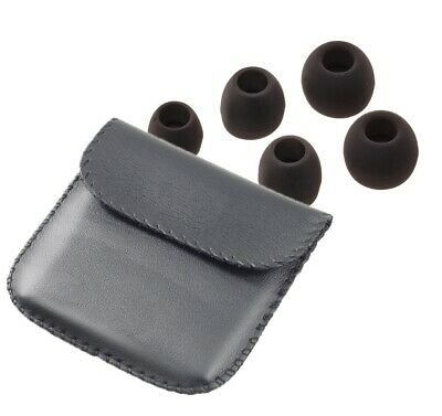 Headphone Earphones Carry Case Pouch + Free Replacement Earbuds