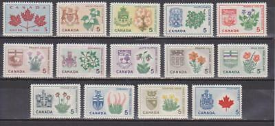 1964-1966 Canada SC# 417-429A Provincial Flowers + Coats of Arms Lot# 28 M-NH