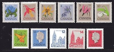 1977-1982 Canada SC# 705-712 Floral and First-Class Definitives Lot# 85 M-NH