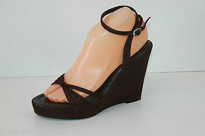 Wedge Court Shoes JONAK Suede Brown T 38 VERY GOOD CONDITION