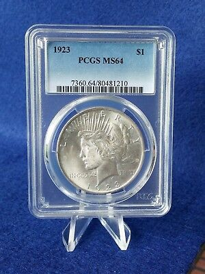 1923  Peace Silver Dollar $1 *pcgs Ms64 Choice Brilliant Uncirculated*