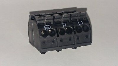 Lot of 20 New WAGO 862-1533 4 Conductor Chassis Mount Terminal Stripl 3 Post
