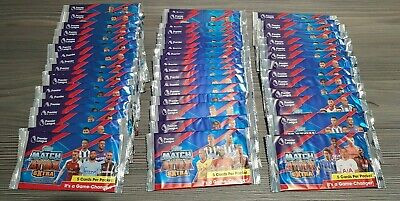 50 Unopened Packs of Topps Match Attax Extra Football Cards 2017/18 Collectables