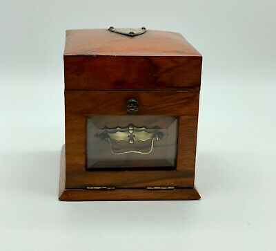 Antique Victorian Walnut Jewellery Box circa 1865