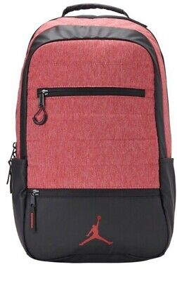 512b5891ee9fcd NEW Nike Air Jordan Airborne Adult Unisex Backpack Black Red Laptop Sleeve   65