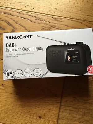DAB + Radio with LCD Colour Display SilverCrest 2.4''  Black