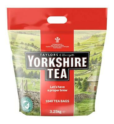 Large Pack Yorkshire Tea Bags Teabags Taylors One Cup Bulk Cafe Size Bag Big New