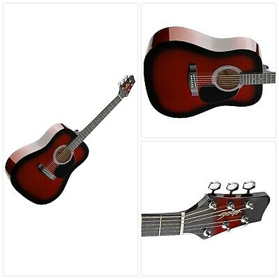 Stagg SW201RDS Dreadnought Acoustic Guitar - Red Burst