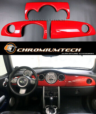 MK1 MINI Cooper/S/ONE JCW R50 R52 R53 Chili RED Dashboard Cover for LHD Models