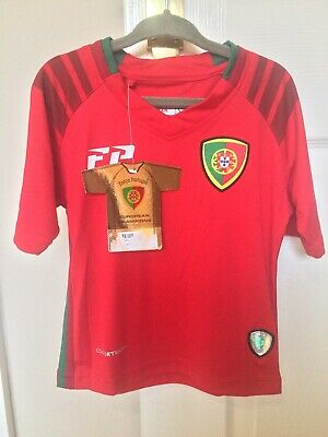Forca Portugal Comfortech Football T Shirt Top Jersey Kids Size 1 Year New + Tag