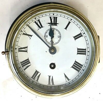 Ships Marine Style Bulkhead Bulk Head Brass Cased Second Dial