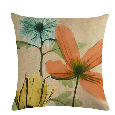 Cushion Linen Abstract Leaves Flower Cover Home Supplies Pillow Pillowcase L