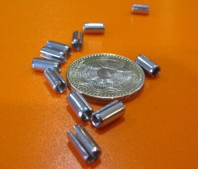 """420 Stainless Steel, Slotted Roll Spring Pin, 3/16"""" Dia x 3/8"""" Length, 200 pcs"""