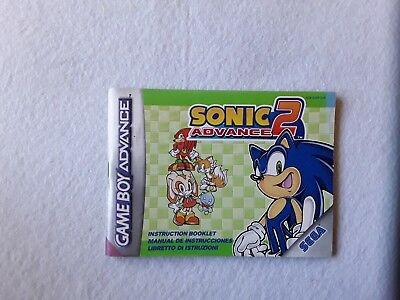 Manual Instrucciones Sonic 2 Pal Nintendo Game Boy Advance Ii Instruction Book
