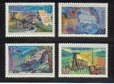 1988 Canada SC# 1199-1202 - Exploration of Canada-3 Lot# 193 M-NH