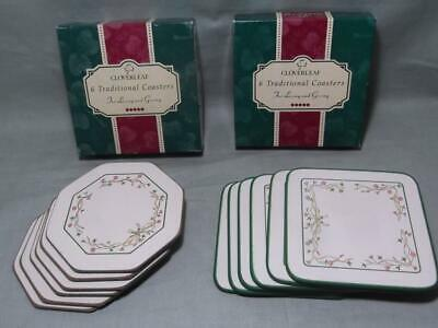 2 Boxed Sets of 6 Coasters Johnson Brothers Eternal Beau Octagonal & Square