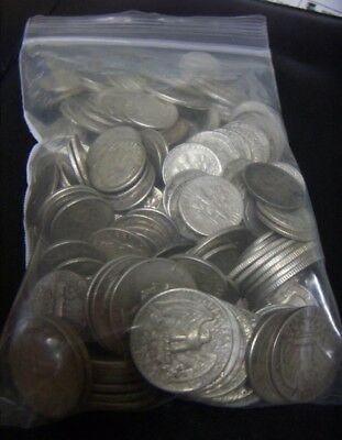 90% Silver U.S.Coin LOT Half Dollars, Quarters, and Dimes - 2.332lbs Random Mix