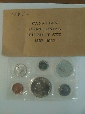 1967 CANADIAN ROYAL MINT Silver 1867-1967 CENTENNIAL 6 COIN PROOF SET
