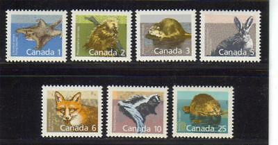1987-1992 Canada SC# 1155-1161 - Mammal Definitive Lot# 185 M-NH