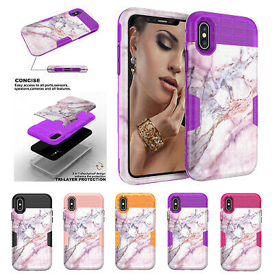 Slim Woman Marble Pattern Case For iPhone 7 6S 8 Plus XS Protective Back Shell