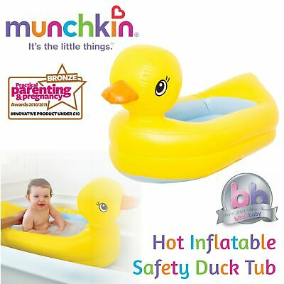 Munchkin Hot Inflatable Safety Duck Bath Tub│Foldable Water Fun│for 6-24 Months