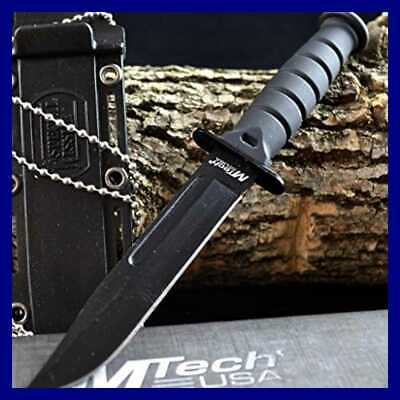 "6"" TACTICAL BOOT COMBAT NECK KNIFE Survival Hunting BOWIE Military Fixed Blade"