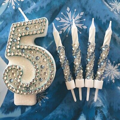Frozen Birthday Candle Set  Party Cake Disney Cake Topper