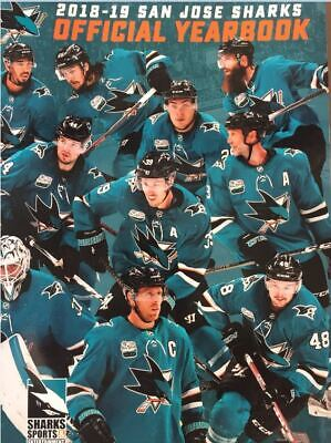 2018 2019 San Jose Sharks Yearbook Official Nhl Pavelski Stanley Cup Champs