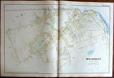 Weymouth Fore River Richmond Hill Norfolk County Massachusetts 1888 detailed map