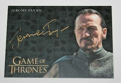 2017 Game of Thrones Valyrian Steel Gold Autograph Jerome Flynn as Bronn