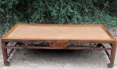 Stunning Antique Chinese Qing Dynasty Daybed! Rare Chinese Furniture! Nr!