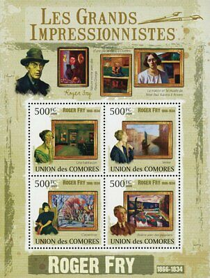 M0519 4 Stamp Sheet Art By Impressionist Theodore Wendel