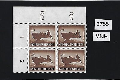 MNH block / 1944 /  03 + 02 / Military Armed Forces / Third Reich / Nazi Germany